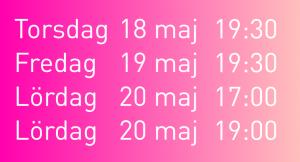 föreställningstider